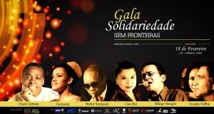 Cartaz Gala solidariedade sem fronteiras